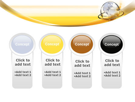 Yellow Globe PowerPoint Template Slide 5