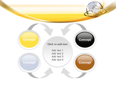 Yellow Globe PowerPoint Template Slide 6