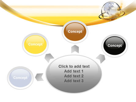 Yellow Globe PowerPoint Template Slide 7