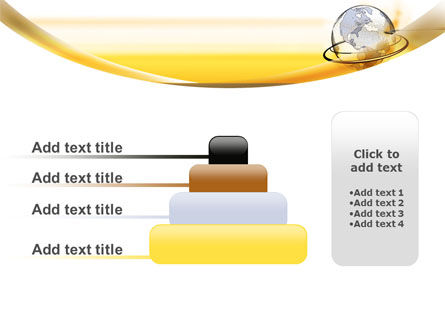 Yellow Globe PowerPoint Template Slide 8