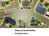 Construction: Building Satellite View PowerPoint Template #08346