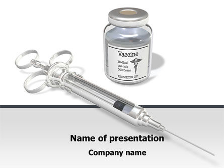 Medical: Vaccine PowerPoint Template #08347