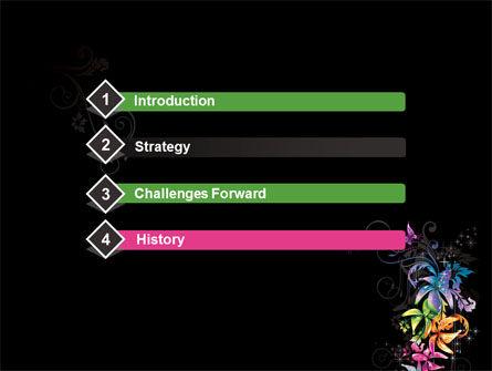Fancy Design Flowers PowerPoint Template, Slide 3, 08349, Abstract/Textures — PoweredTemplate.com