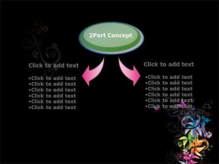 Fancy Design Flowers PowerPoint Template, Slide 4, 08349, Abstract/Textures — PoweredTemplate.com