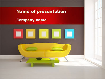 Yellow Couch PowerPoint Template, 08350, Careers/Industry — PoweredTemplate.com