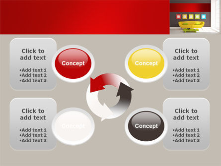 Yellow Couch PowerPoint Template Slide 9