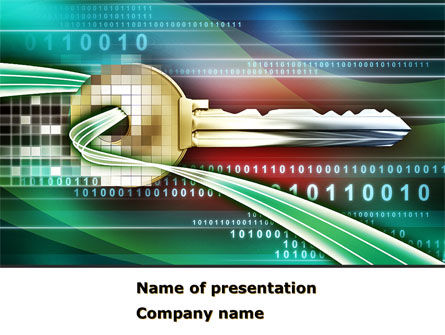 Technology and Science: Digital Key PowerPoint Template #08352