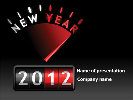 N Yr Speedometer PowerPoint Template, 08353, Business — PoweredTemplate.com
