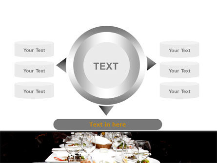 Banquet Table PowerPoint Template Slide 12