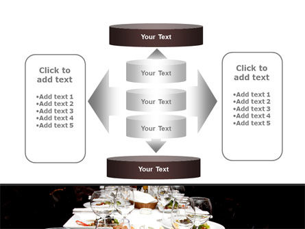 Banquet Table PowerPoint Template Slide 13