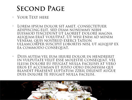 Banquet Table PowerPoint Template Slide 2