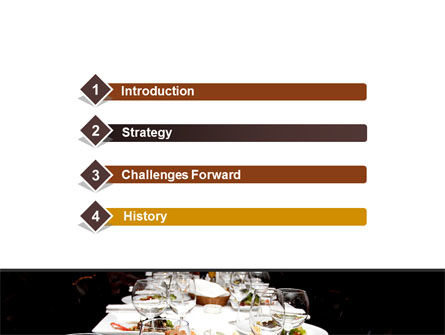 Banquet Table PowerPoint Template Slide 3