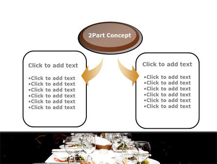 Banquet Table PowerPoint Template, Slide 4, 08354, Food & Beverage — PoweredTemplate.com