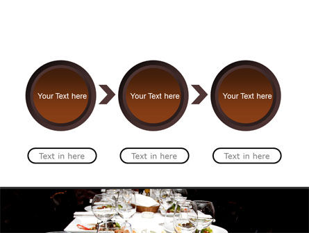 Banquet Table PowerPoint Template Slide 5
