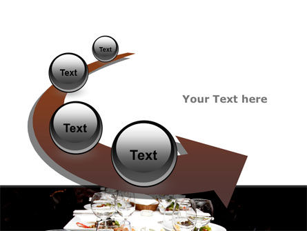 Banquet Table PowerPoint Template Slide 6