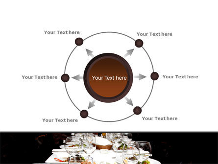 Banquet Table PowerPoint Template Slide 7