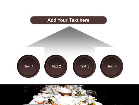 Banquet Table PowerPoint Template Slide 8