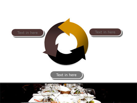 Banquet Table PowerPoint Template Slide 9