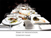Food & Beverage: Banquet Table PowerPoint Template #08354