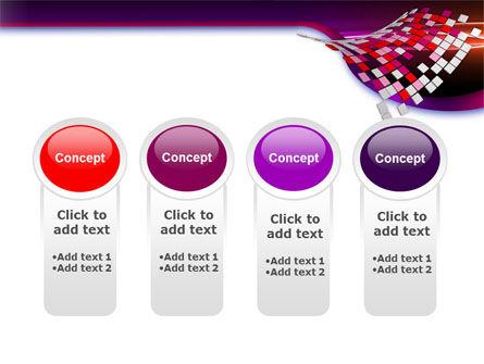 Pink Pixels PowerPoint Template Slide 5