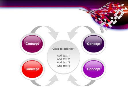 Pink Pixels PowerPoint Template Slide 6