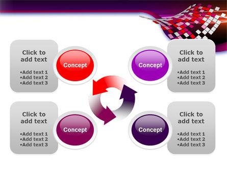 Pink Pixels PowerPoint Template Slide 9