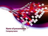 Abstract/Textures: Templat PowerPoint Piksel Merah Muda #08355