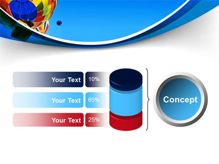 Colorful Air Balloons Free PowerPoint Template Slide 11