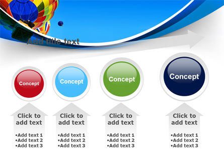 Colorful Air Balloons Free PowerPoint Template Slide 13