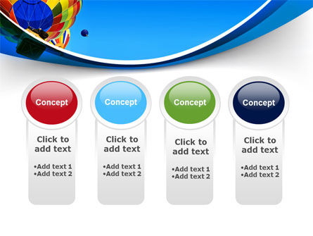 Colorful Air Balloons Free PowerPoint Template Slide 5