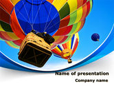Cars and Transportation: Colorful Air Balloons PowerPoint Template #08358