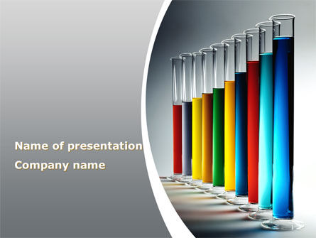 Technology and Science: Colorful Tubes PowerPoint Template #08361