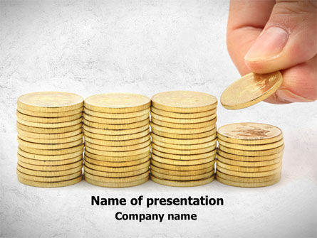 Financial/Accounting: Money Saving PowerPoint Template #08362