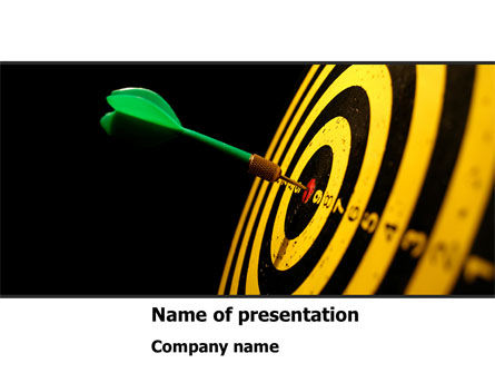 Bullseye Dart PowerPoint Template, 08364, Consulting — PoweredTemplate.com