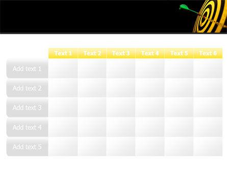 bullseye chart template - bullseye dart powerpoint template backgrounds 08364