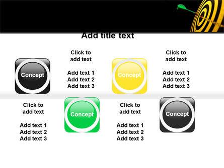 Bullseye Dart PowerPoint Template Slide 19