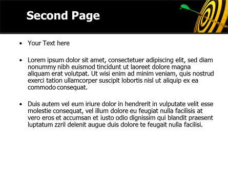 Bullseye Dart PowerPoint Template Slide 2