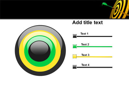 Bullseye Dart PowerPoint Template Slide 9