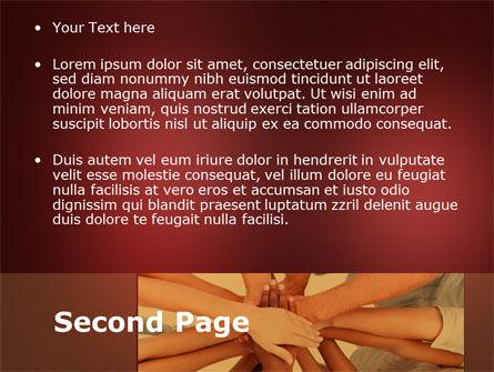Joined Hands PowerPoint Template, Slide 2, 08368, Religious/Spiritual — PoweredTemplate.com
