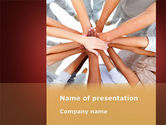 Religious/Spiritual: Joined Hands PowerPoint Template #08368