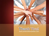 Joined Hands PowerPoint Template#20