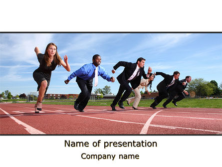 Business Competition PowerPoint Template, 08369, Education & Training — PoweredTemplate.com