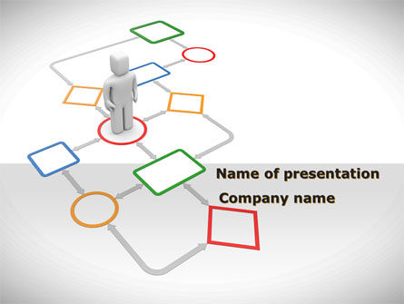 Flowchart PowerPoint Template, 08371, Education & Training — PoweredTemplate.com