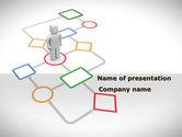 Education & Training: Modèle PowerPoint de flux d'écrans #08371