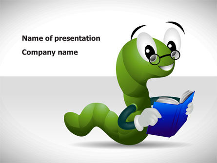 Smart Worm PowerPoint Template, 08373, Education & Training — PoweredTemplate.com