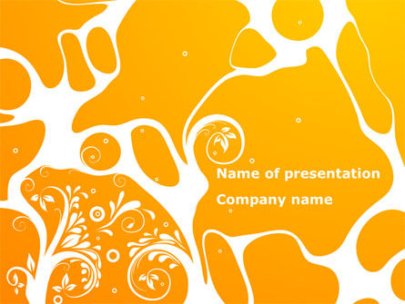 Yellow Design Background PowerPoint Template, 08374, Abstract/Textures — PoweredTemplate.com