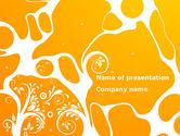 Abstract/Textures: Modèle PowerPoint de fond de conception jaune #08374