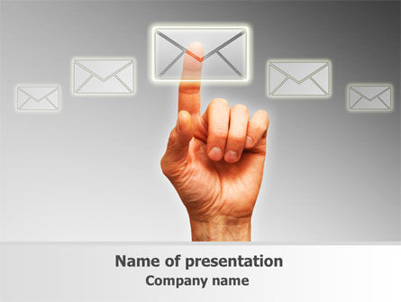Telecommunication: Email Service By PowerPoint Template #08375