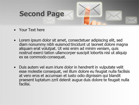 Email Service By PowerPoint Template, Slide 2, 08375, Telecommunication — PoweredTemplate.com