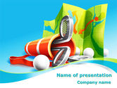 Sports: Golf Championships PowerPoint Template #08376